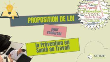 Proposition de loi pour renforcer la prévention en santé au travail